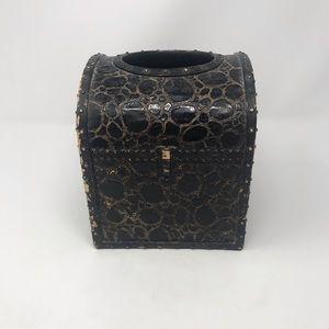 Unique Rustic Treasure Chest Tissue Box Cover